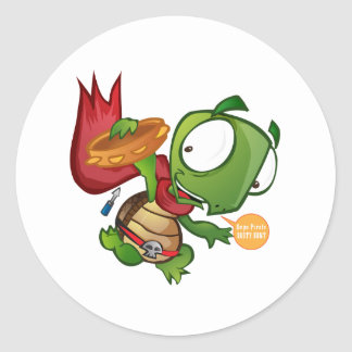 Daniel The Turtle Round Sticker