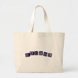 Daniel Toy blocks in blue Bag