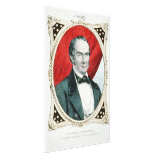 Daniel Webster 12th Presidential Campaign Litho Canvas Print