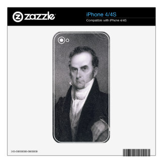 Daniel Webster (1782-1852) (engraving) Decal For iPhone 4