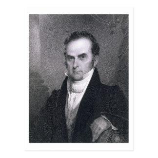 Daniel Webster (1782-1852) (engraving) Postcard