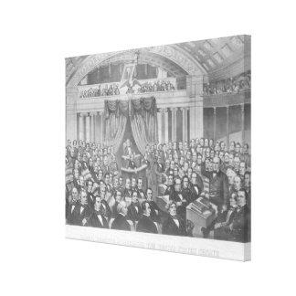 Daniel Webster addressing the United States Canvas Print