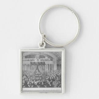 Daniel Webster addressing the United States Keychain