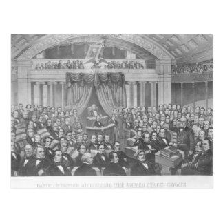 Daniel Webster addressing the United States Postcard