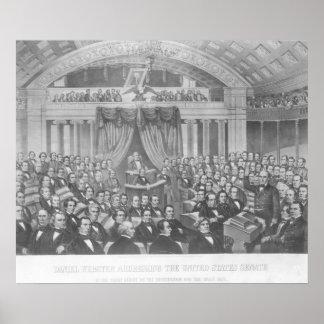Daniel Webster addressing the United States Poster