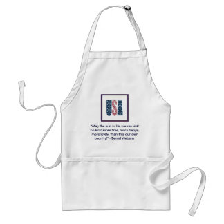 Daniel Webster Patriotic Quote Adult Apron