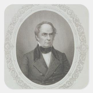 Daniel Webster Calcomanía Cuadradas Personalizadas