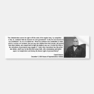 Daniel Webster Quote 1 Car Bumper Sticker