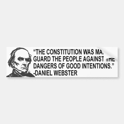 Daniel Webster Quotes Bumper Sticker