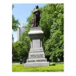 Daniel Webster Statue Central Park NY Postcard
