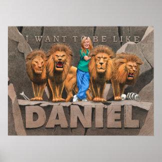 Daniel y la guarida del león - chica póster