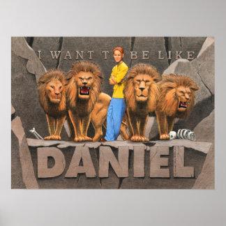 Daniel y la guarida del león - muchacho póster