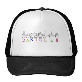 DANIELLE FINGERSPELLED ASL NAME SIGN TRUCKER HAT