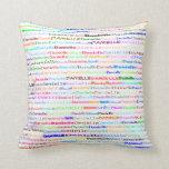 Danielle Text Design II Throw Pillow Throw Pillows