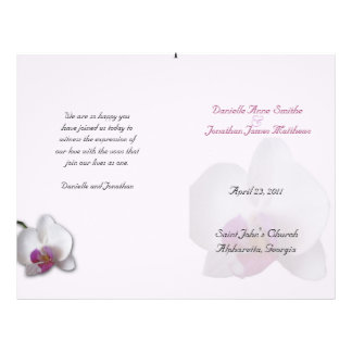 Danielle's Wedding Program