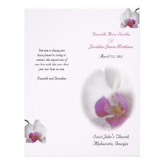 Danielle's Wedding Program vert