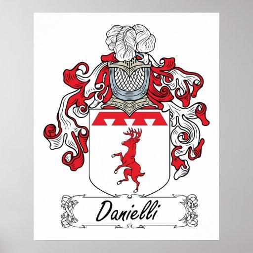 Danielli Family Crest Poster