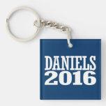 DANIELS 2016 LLAVERO CUADRADO ACRÍLICO A DOBLE CARA