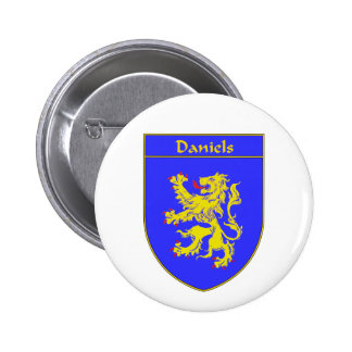 Daniels Coat of Arms/Family Crest Pinback Button