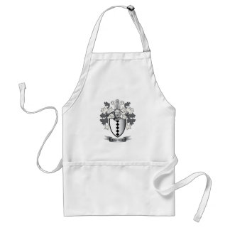 Daniels Family Crest Coat of Arms Adult Apron