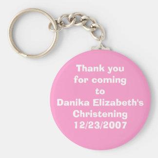 Danika's Christening Keychain
