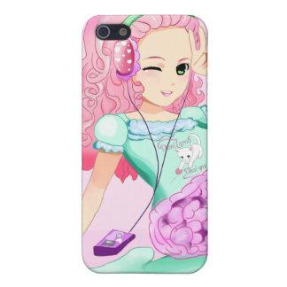 DaniLamb Headphones Anime Girl Kawaii Covers For iPhone 5