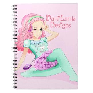 DaniLamb Headphones Anime Girl Kawaii Notebook