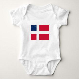 Danish-American Flag Baby Bodysuit