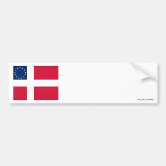 Danish-American Flag Bumper Sticker