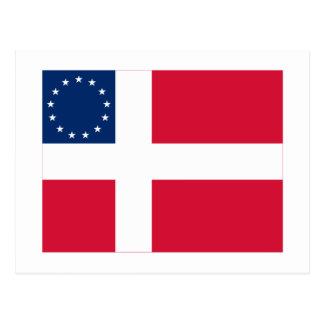 Danish-American Flag Postcard