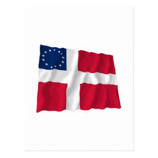Danish-American Waving Flag Postcard