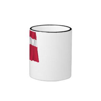 Danish-American Waving Flag Ringer Mug