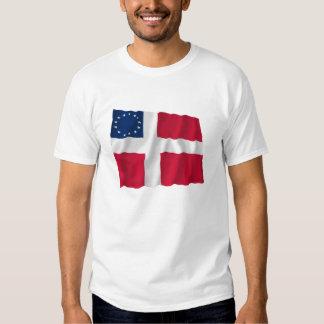 Danish-American Waving Flag T Shirt