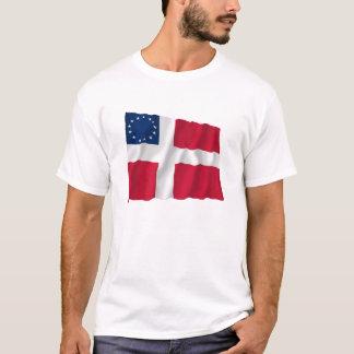 Danish-American Waving Flag T-Shirt