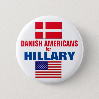 Danish Americans for Hillary 2016 Button