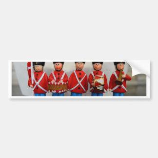 DANISH ARMY SOLDIERS RED BUMPER STICKER