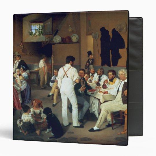 Danish artists at the Osteria la Gonsola, Rome, 18 Binder
