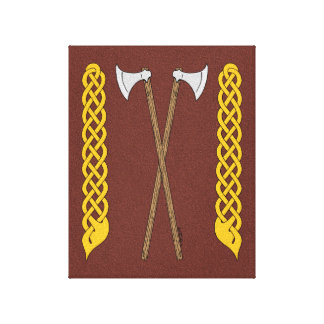 Danish Axes Crossed with Plaitwork Canvas Print