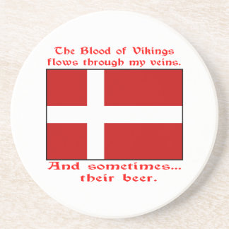 Danish Blood & Beer Viking Coaster