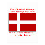 Danish Blood & Beer Viking Postcard