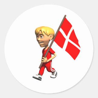 Danish Boy Classic Round Sticker