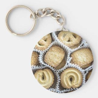 Danish Butter Cookies Basic Round Button Keychain