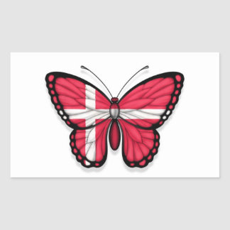 Danish Butterfly Flag Stickers
