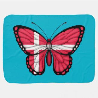 Danish Butterfly Flag Stroller Blanket