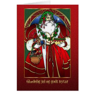 Danish Christmas Card - Santa Claus - Glædelig jul