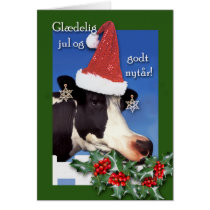 Danish Christmas, Glaedelig jul og godt nytar, Cow Card
