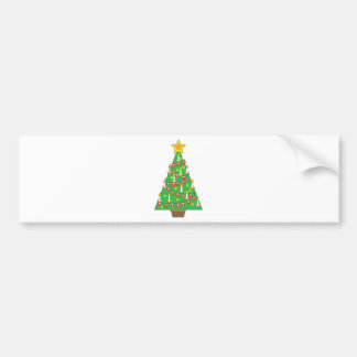 Danish Christmas Tree Bumper Sticker