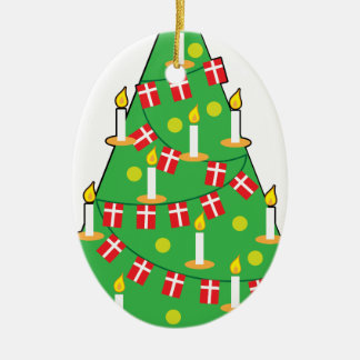 Danish Christmas Tree Ceramic Ornament