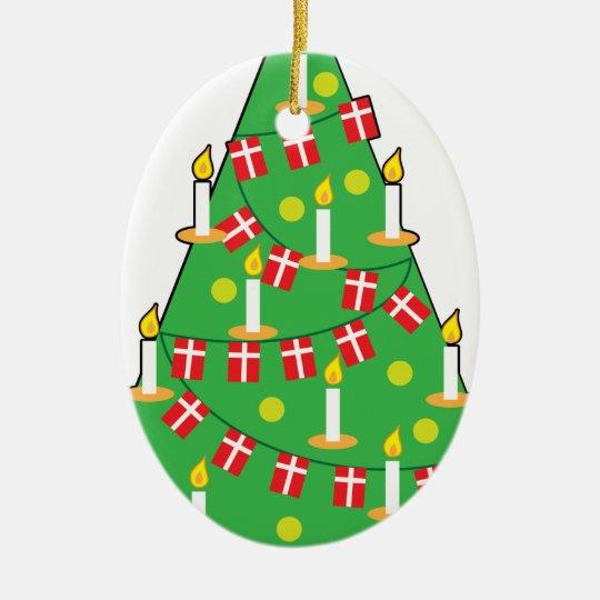 Danish Christmas Trees: Danish Christmas Tree Ceramic Ornament