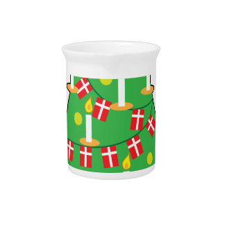 Danish Christmas Tree Drink Pitcher